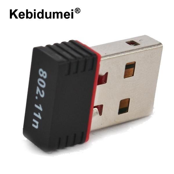 Kebidumei Mini USB WiFi Adapter N 802.11 b/g/n Wi-Fi Dongle High Gain 150Mbps wireless Antenna wifi for computer