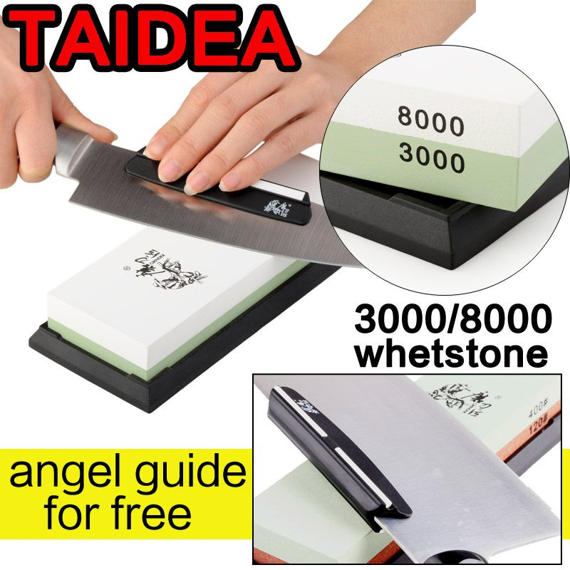 TAIDEA 600 1000 3000 8000 knife grinder <font><b>angle</b></font> double Side Professional Knife Sharpener Sharpening Stone Whetstone <font><b>angle</b></font> guide