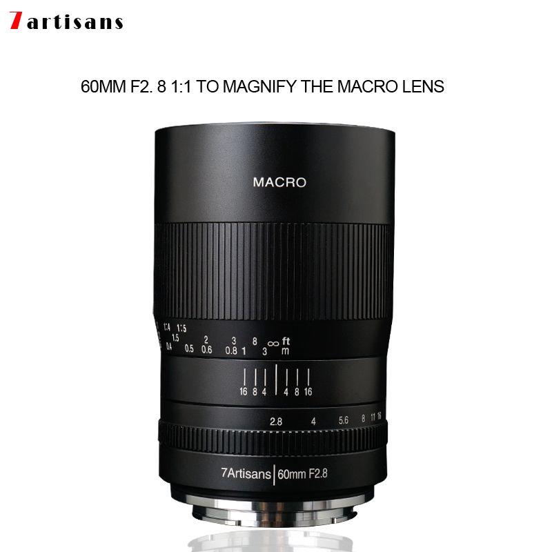 7 handwerker 60mm f2. 8 1:1 vergrößerung makro objektiv ist geeignet für die Canon EOSM EOSR E Fuji M43 nikon z Montieren