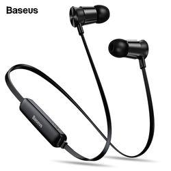 BASEUS S07 Wireless Earphone CSR Bluetooth Headphone untuk Ponsel iPhone Xiao Mi Mi IPX5 Headset Nirkabel Stereo Earpiece Earbud
