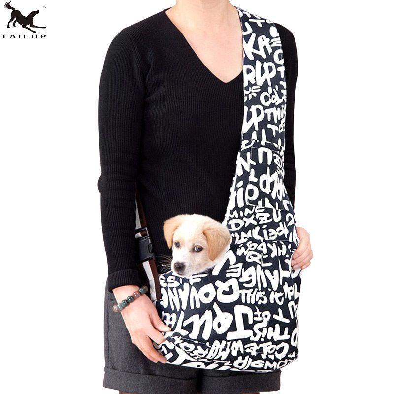 [TAILUP] Pet chien transporteur sac voyage sac à bandoulière chiot chien élingues sac de transport Pet chat poitrine sac à dos sac animaux fournisseur PP010Navy