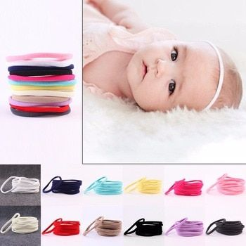 10pcs/lot Kids Spandex Nylon Headband Elastic Nylon Headband Girls Kids Skinny Hairband Headwear DIY Hair Accessories