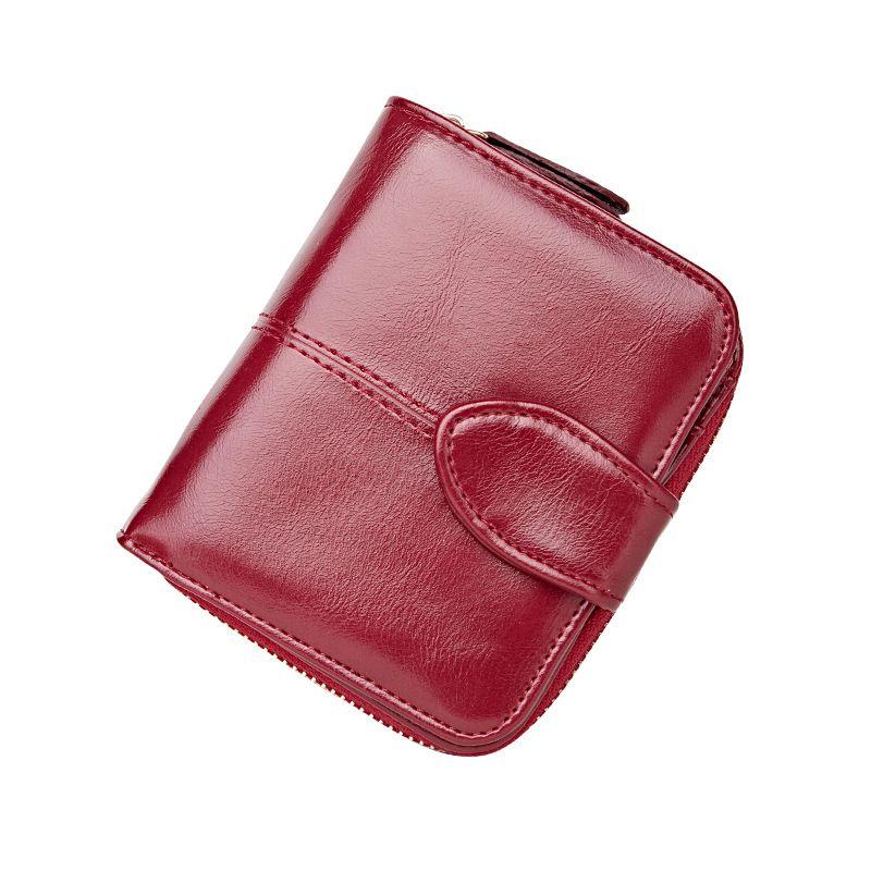 2017 Short Solide Brieftasche Frauen Luxusmarke Leder Multifunktions Weiblichen Handtasche Kleine Reißverschluss Haspe Brieftasche Münzfach Kartenhalter