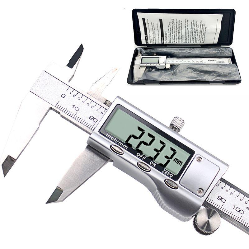 Métal étrier Pouces 150mm En Acier Inoxydable Électronique Numérique Vernier Caliper Micromètre Outil De Mesure Étrier