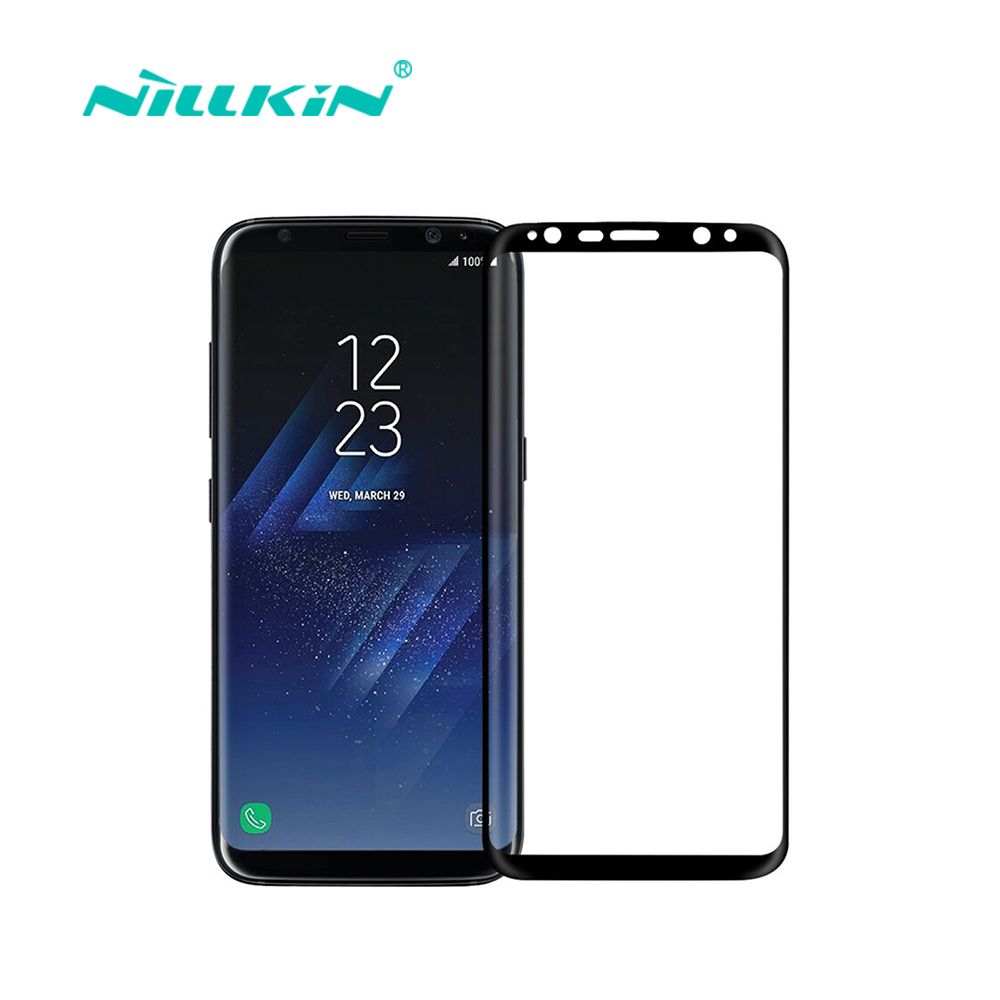 Nillkin screen protector for samsung galaxy s8 fully cover CP+Max 3D round edge thin for samsung s8 touch tempered glass 5.8''