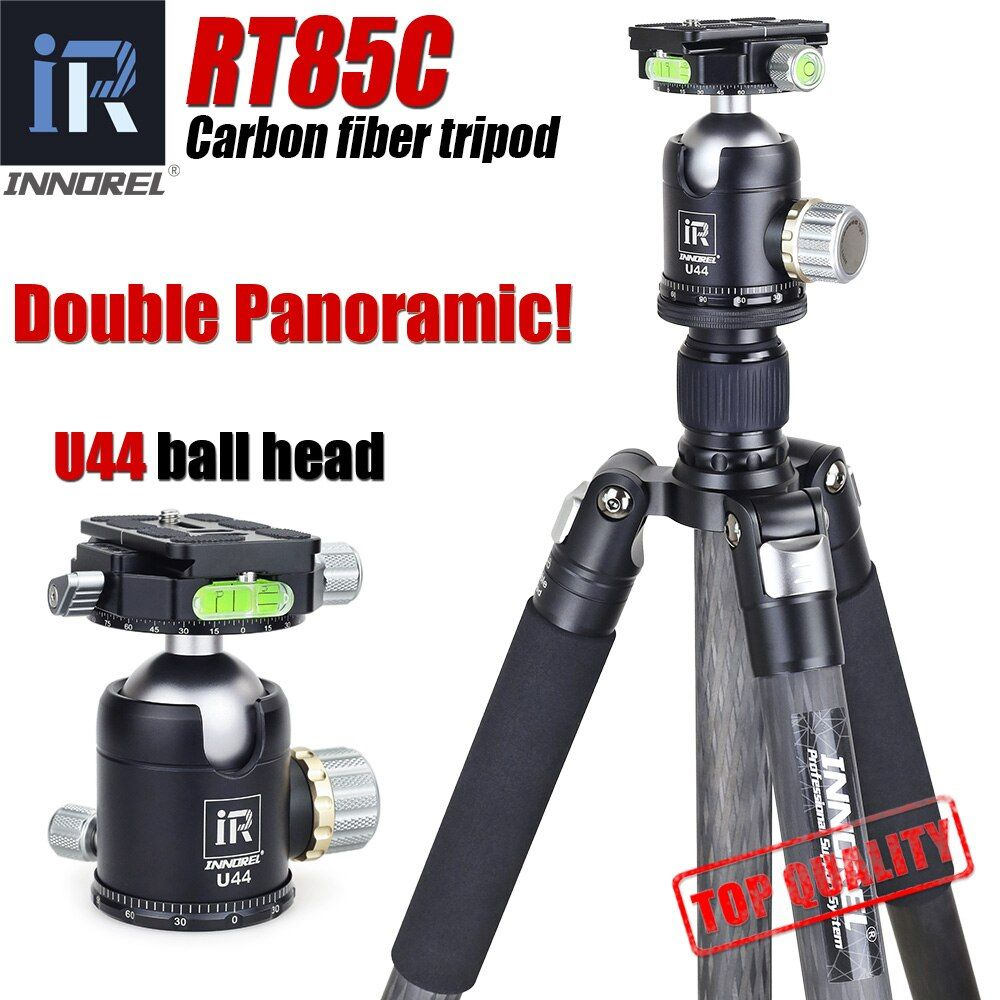 INNOREL RT85C Superb carbon fiber tripod for digital DSLR camera heavy duty camera stand Professional double panoramic ball head