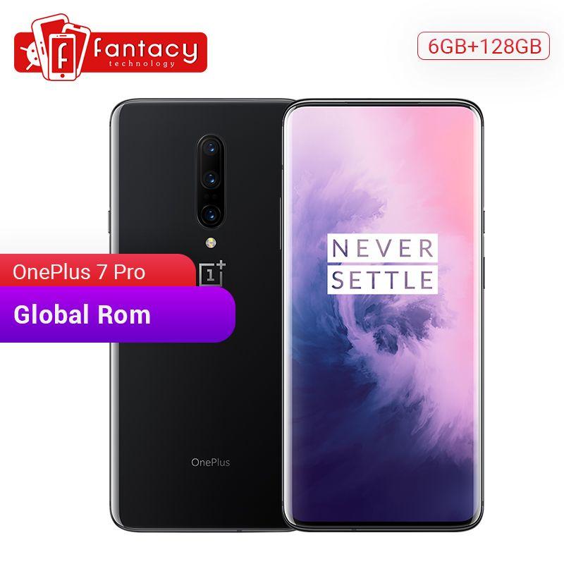 Globale ROM OnePlus 7 Pro 6GB 128GB Smartphone 48MP Triple Kameras Snapdragon 855 6,67 Zoll AMOLED Display Fingerprint UFS 3,0