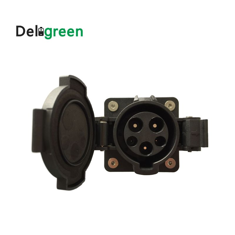 32A socket Original SAE J1772 AC Inlet 120V/240V AC Electric Plug without Cable for EV/Electric Car
