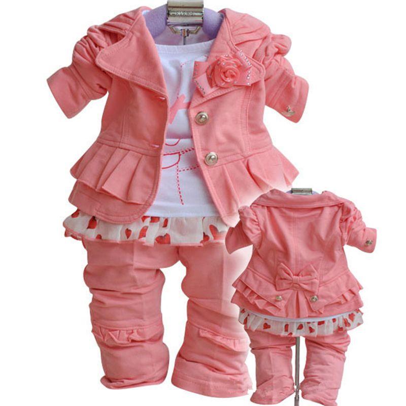Anlencool 2018 Roupas Infantil Meninas nourrissons vallée filles costumes marque vêtements pour enfants nouveau printemps automne bébé filles ensembles