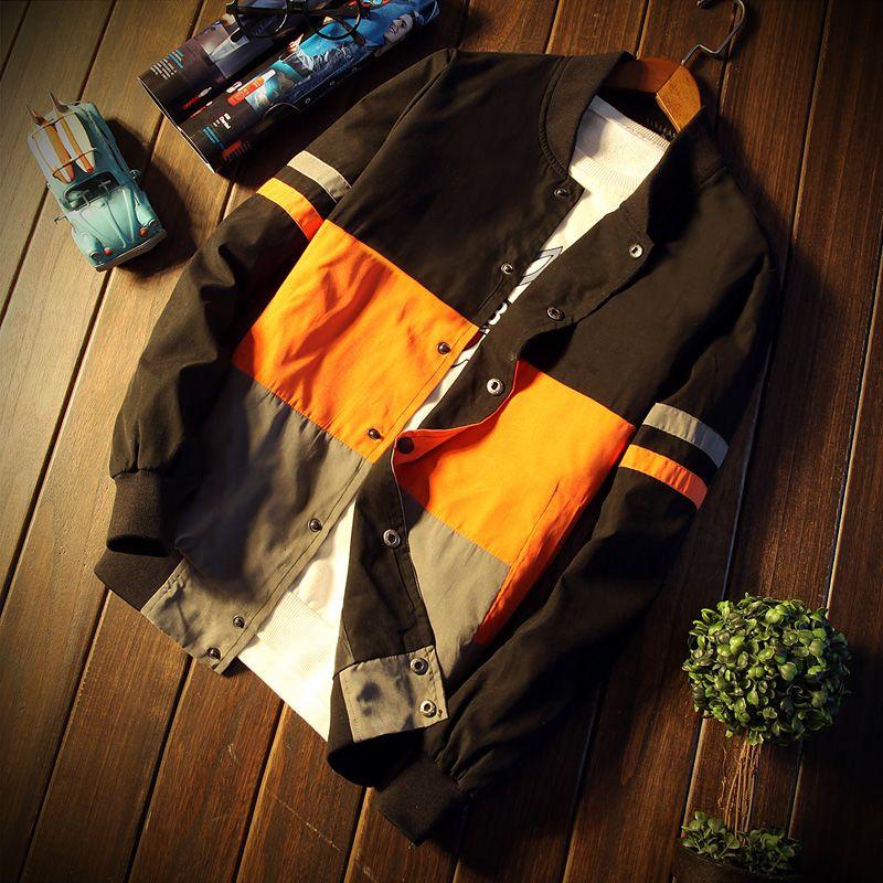 Для мужчин куртка осень лоскутное 3 вида цветов Куртка хип-хоп deporte Moto куртка ветровка Для мужчин пальто бренд тенденция большие размеры 5XL