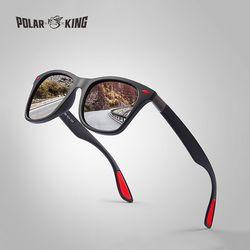 POLARKING marca hombres moda gafas de sol polarizadas para conducir plástico UV protección gafas diseñador viajes gafas de sol