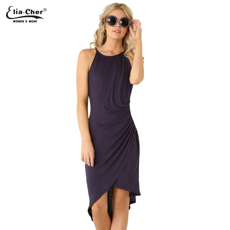 Women Dress New summer dresses casual women <font><b>Clothing</b></font> sexy and Solid Tank dresses Plus Size 6070
