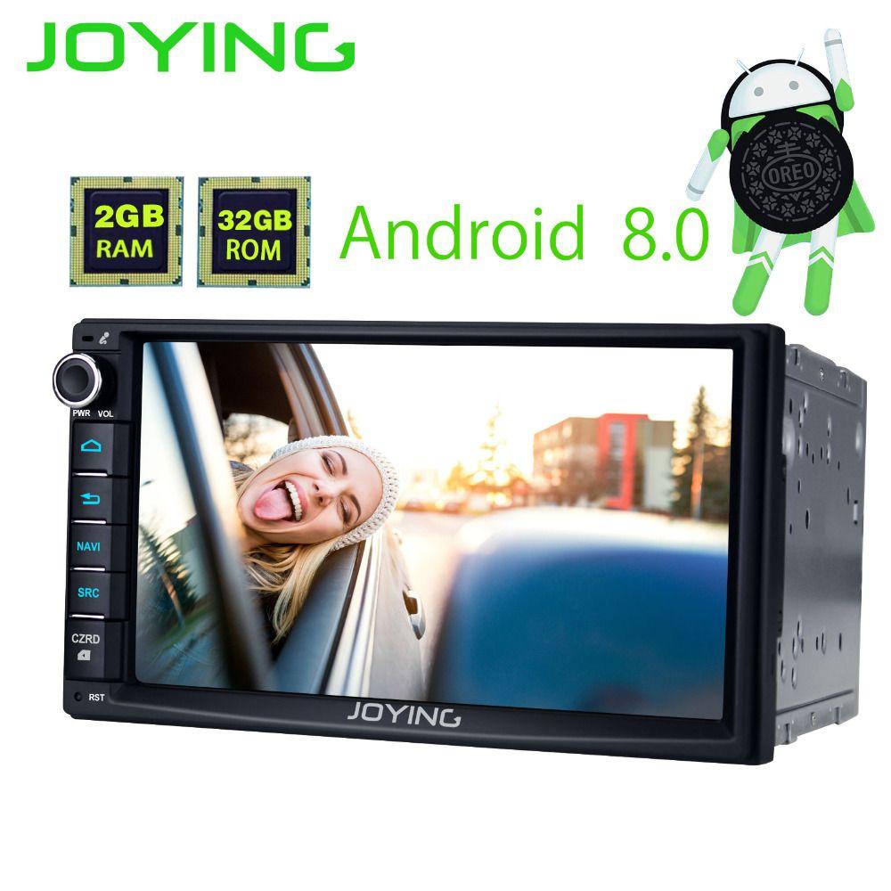 JOYING 2 gb RAM Android 8.0 2 Din Band recorder Stereo HD 7 ''GPS Player BT Auto Radio Octa 8 core Kopf einheit unterstützung apple-carplay