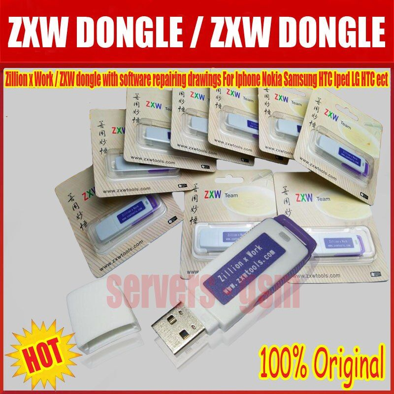 The latest version 100% original  ZXW dongle with software repairing drawings For Iphone Nokia Samsung HTC