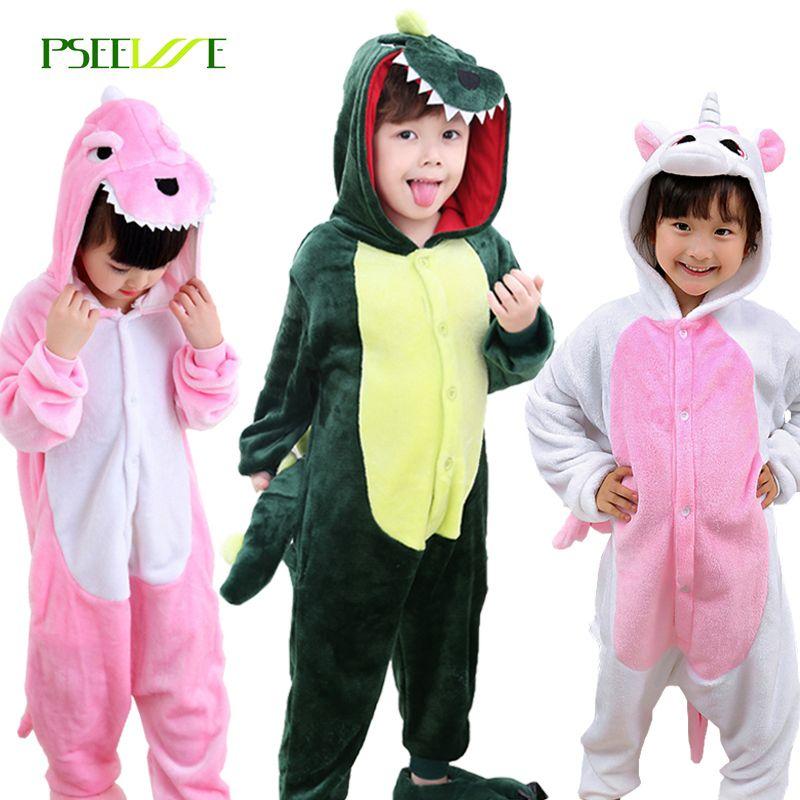 Enfants de Onesie Cosplay Enfants Garçons Filles Pyjamas De Noël Totoro licorne Pikachu Dinosaure Panda pyjama Animal Bébé de Nuit