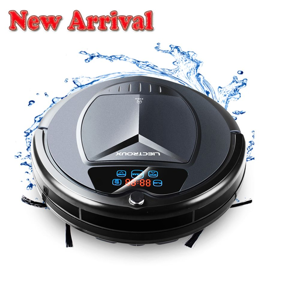 (Free shipping to all countries) 2018 Newest Wet and Dry Robot Vacuum <font><b>Cleaner</b></font>,with Water Tank,TouchScreen,Schedule,SelfCharge,