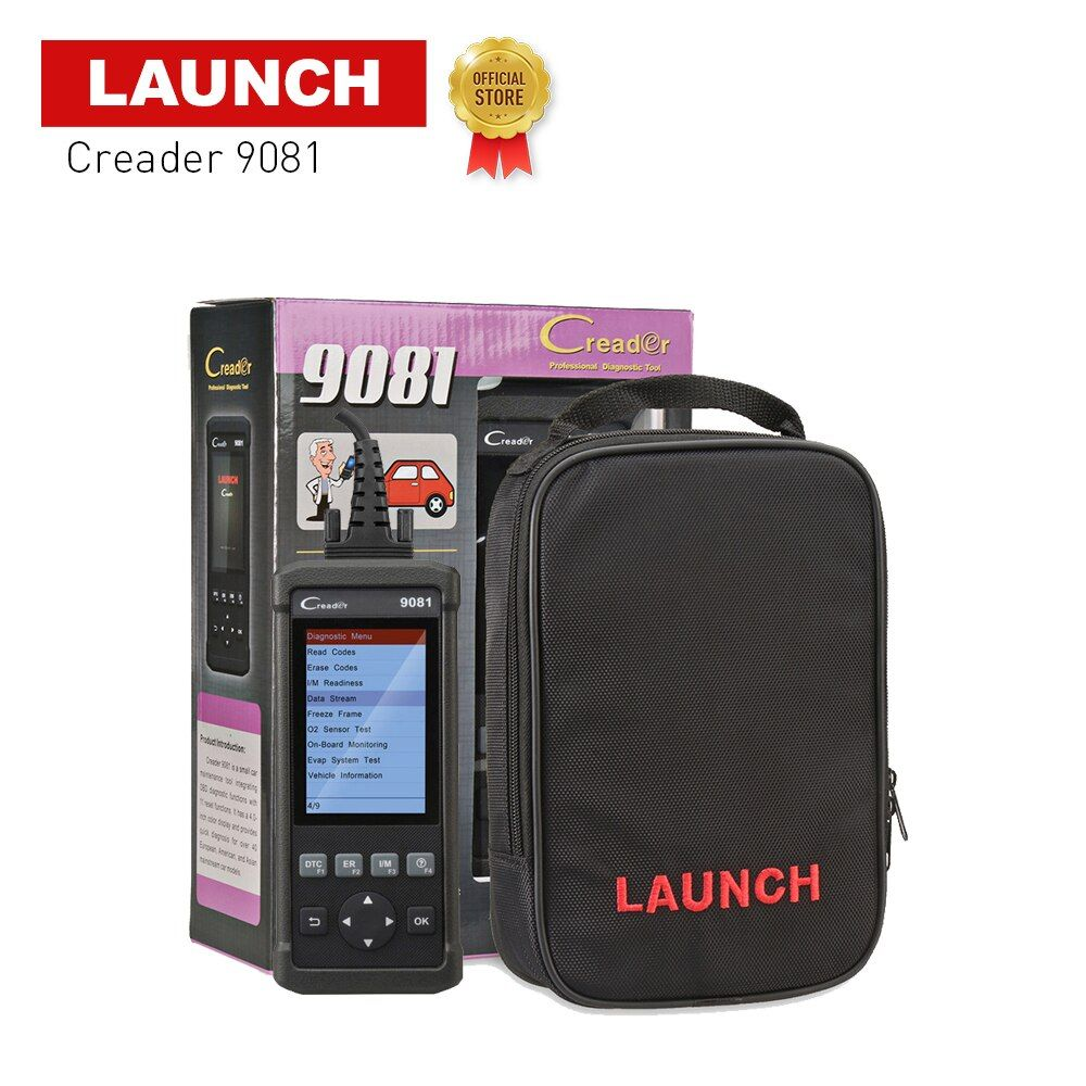 LAUNCH Official Store Creader 9081 obd2 tester 4.0 inch auto scanner diagnostic tool for repairing cars emissions analyzers
