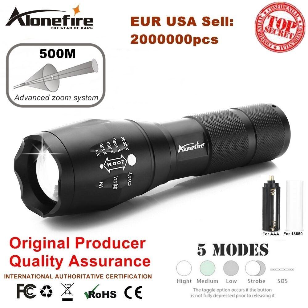 Alonefire E17/G700 XML T6 Tactique cree led Torche lanterna Zoomables lampe de Poche Lampe Torche pour AAA ou 18650 Rechargeable batterie