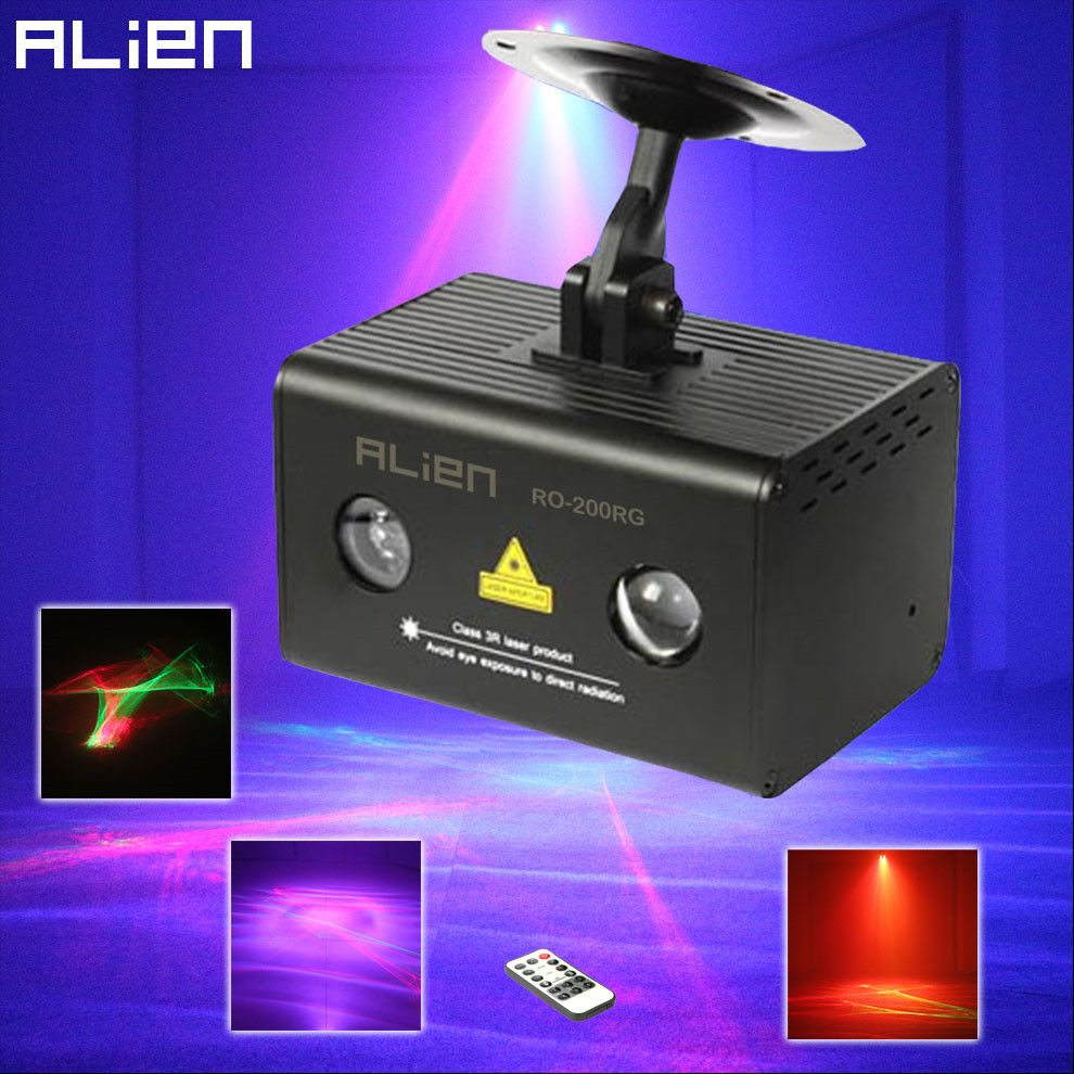 ALIEN Remote RG Aurora Laser Light Projector Stage Lighting Effect RGB LED Water Wave Party Dance Disco DJ Holiday Xmas Lights