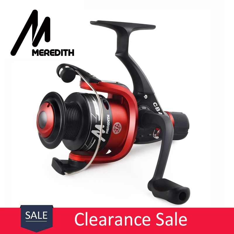 Meredith CB40 highly cost effective For Beginner Lure Fisher 1BB Ratio 5.2:1 Cheap Plastic Spool Spinning Fishing Reel