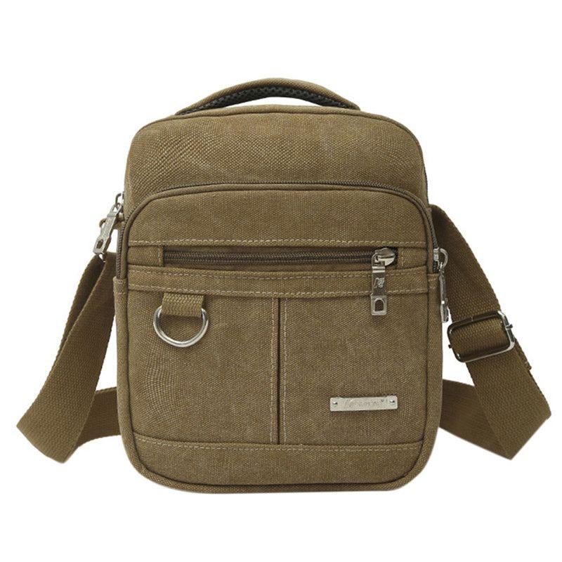 Fashion Men Shoulder Crossbody Bag High Quality Canvas Handbag Messenger Bag Casual Travel Bags Men Messenger Bags Male Clutches