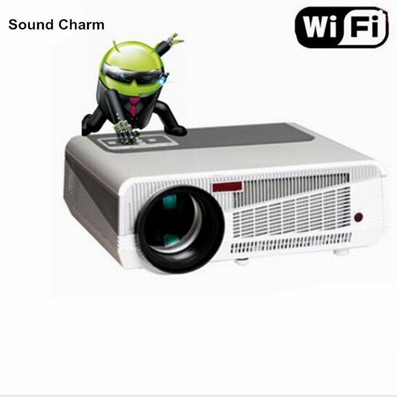 Perfekte LED projektor gebaut in andorid 4,42 Full HD 5500 Lumen mit HMDI USB TV heimkino projektor