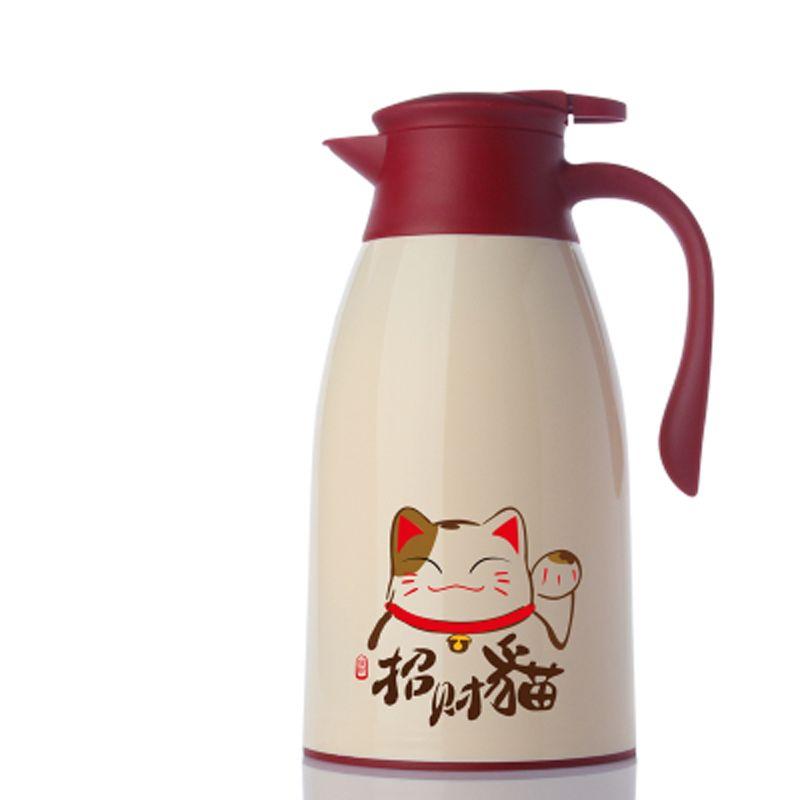 Fashion Cartoon Owl Cat 1.6L/1.9LThermo Jug Heat Kettle Vacuum Insulated Pot Coffee Tea Thermos Flasks Cups