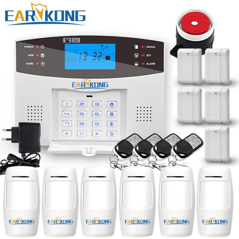 Wireless GSM Alarm System 433MHz Home Burglar Security Alarm Door sensor motion sensor alarms Android IOS APP Intercom Siren