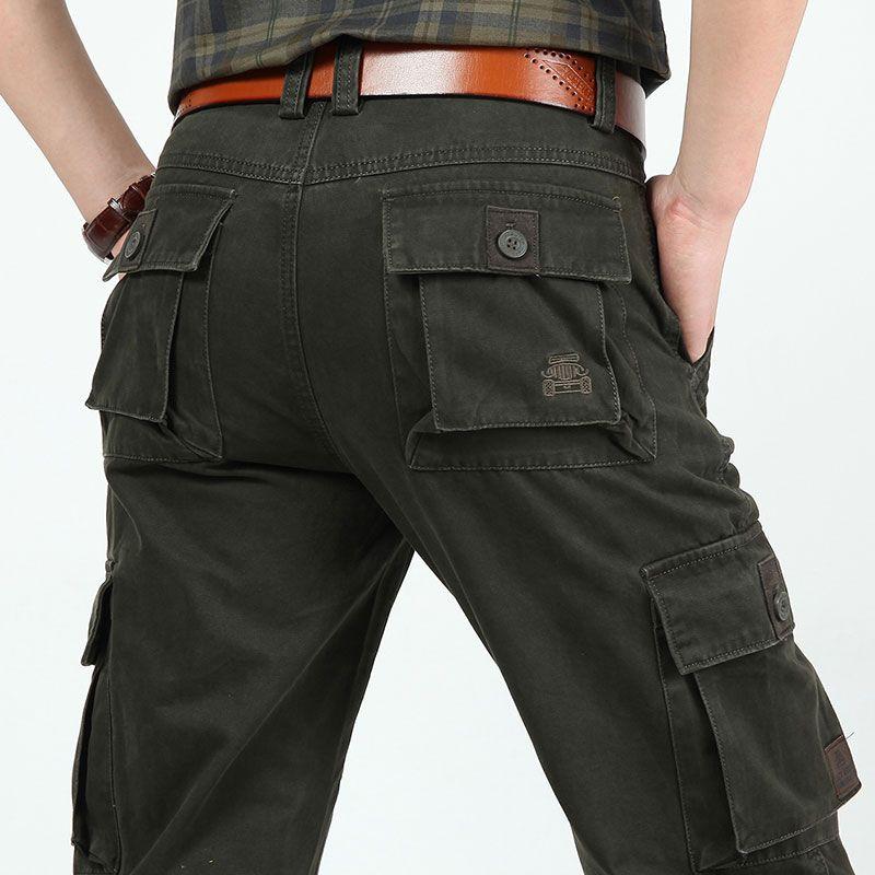 4 Colors 30~44 2015 New Autumn Mens Plus Size Pants Cotton Long Casual Trousers Man Straight Formal Fashion Big Size Pantalones