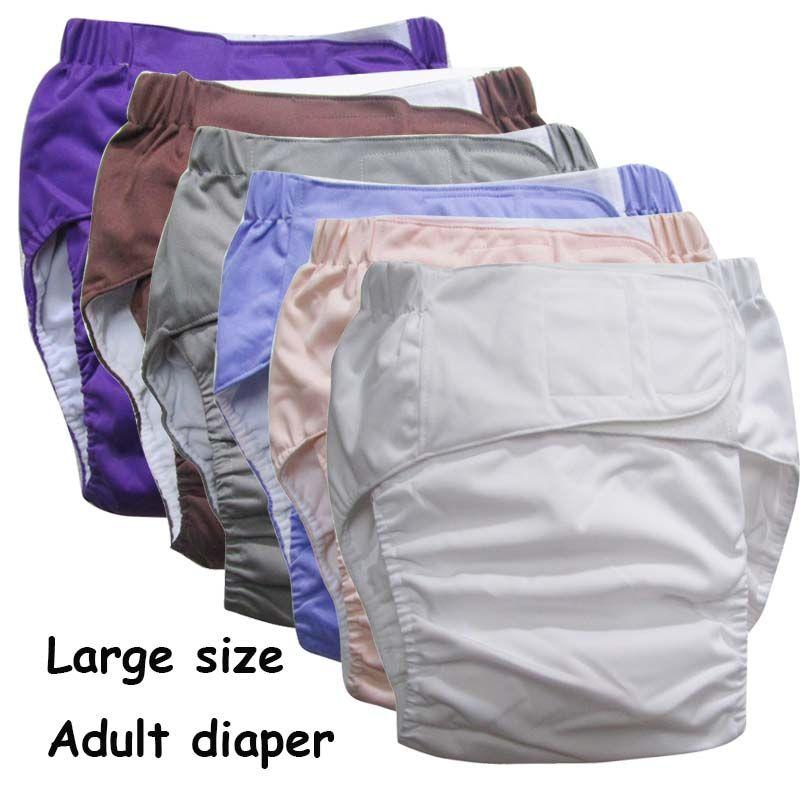 Супер большой многоразовые взрослых пеленки для пожилых людей и инвалидов, размер adjuatable ТПУ пальто Водонепроницаемый недержания Брюки для ...
