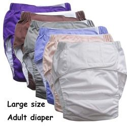 Super large Reusable adult diaper for old people and disabled, size adjuatable TPU coat Waterproof  Incontinence Pants underware
