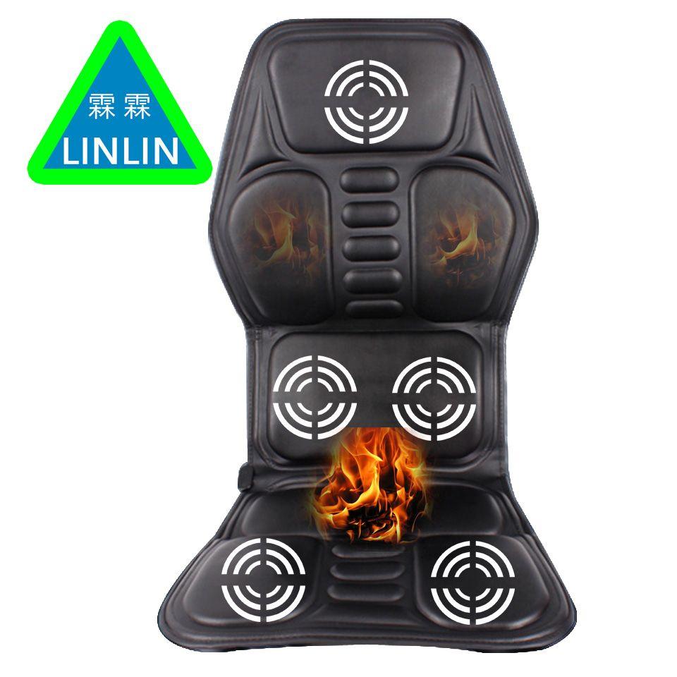 LINLIN Auto Hause Büro Voller-Körper Massage Kissen. wärme Vibrieren Matratze. nacken Massage Stuhl Massage Entspannung Auto Sitz 12 v