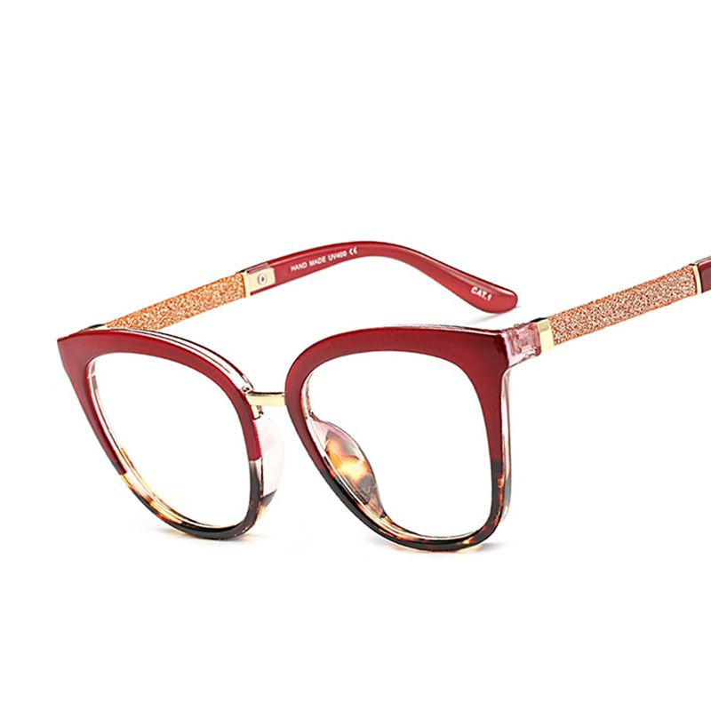 Fashion Women Glasses Frame Men Eyeglasses Frame Vintage Round Clear Lens Cat Eye Glasses Female Eyewear MF6952