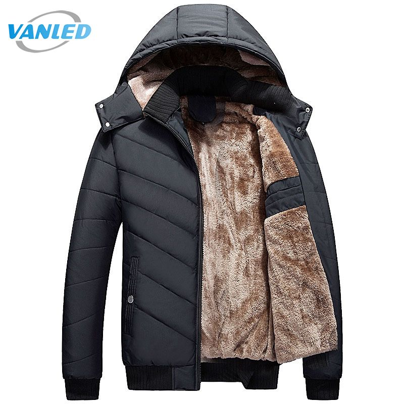 Winter Parka Men 2017 New Men's Jacket Casual Hooded Padded Coat Mens Thick Warm Parka Men Outwear Jacket Male Clothing