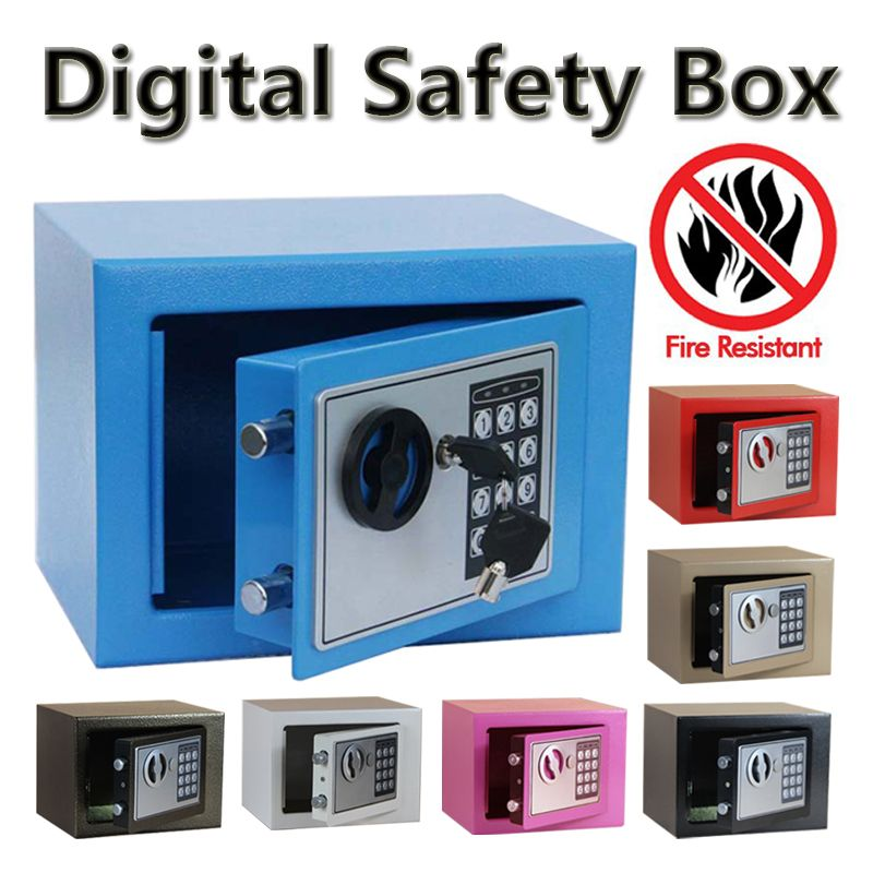 Digital safe box Fire Proof Ideal to Guard Valuables Secret At Home while Travel Storage Jewellery Gold caja fuerte coffre fort