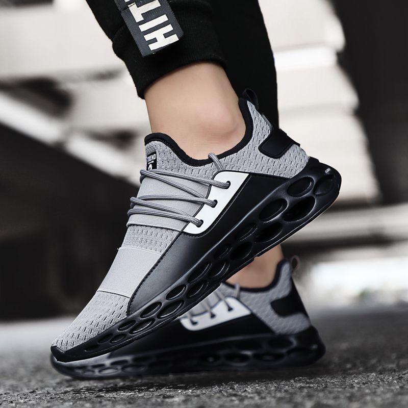 Élégant quatre saisons chaussures de course pour hommes Air respirant léger chaussures de sport noir rouge homme Gym baskets Betis Zapatillas