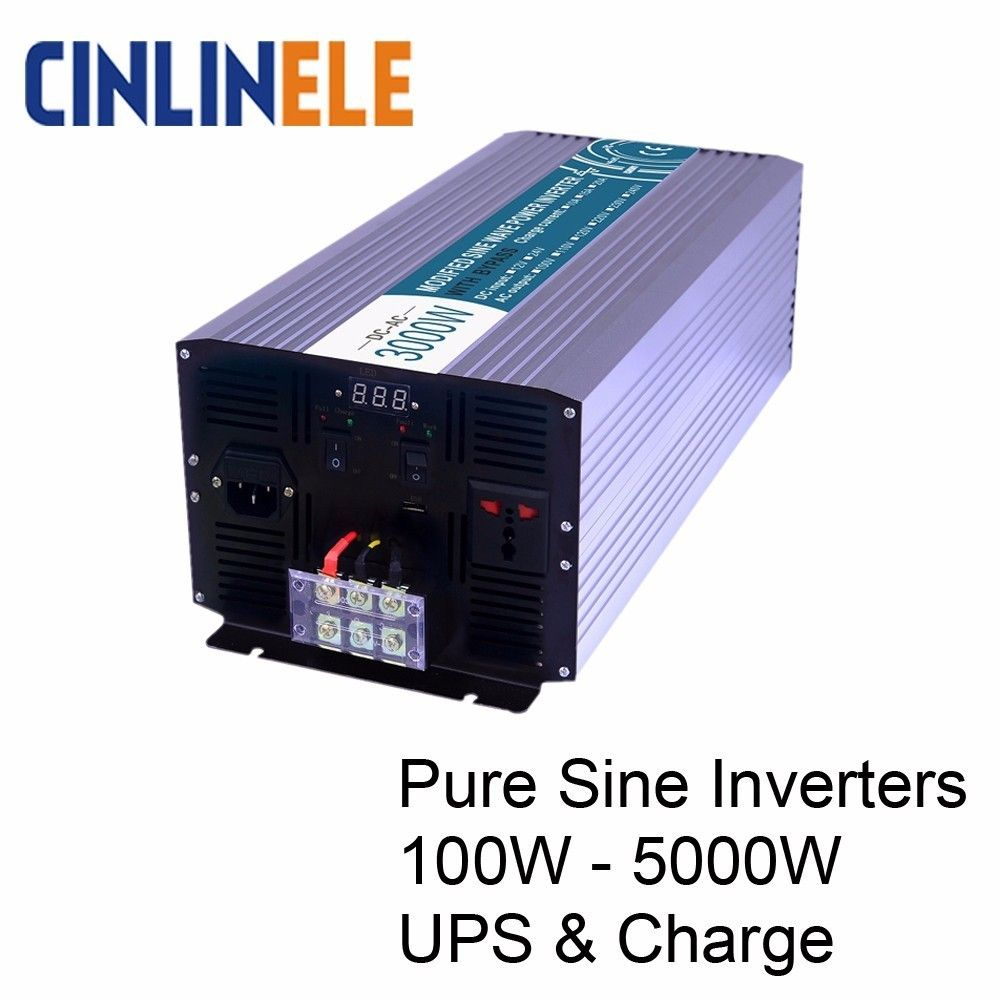 Smart Charging Pure Sine Wave Inverters DC 12V 24V to AC 110V 220V 1000W - 5000W 1500W 2000W 2500W 3000W 4000W Solar Power Car