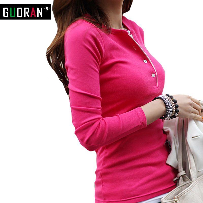 2016 на осень-зиму футболка Для женщин v-образным вырезом с длинным рукавом Футболки для женщин для женщин; большие размеры Тонкий футболка од...
