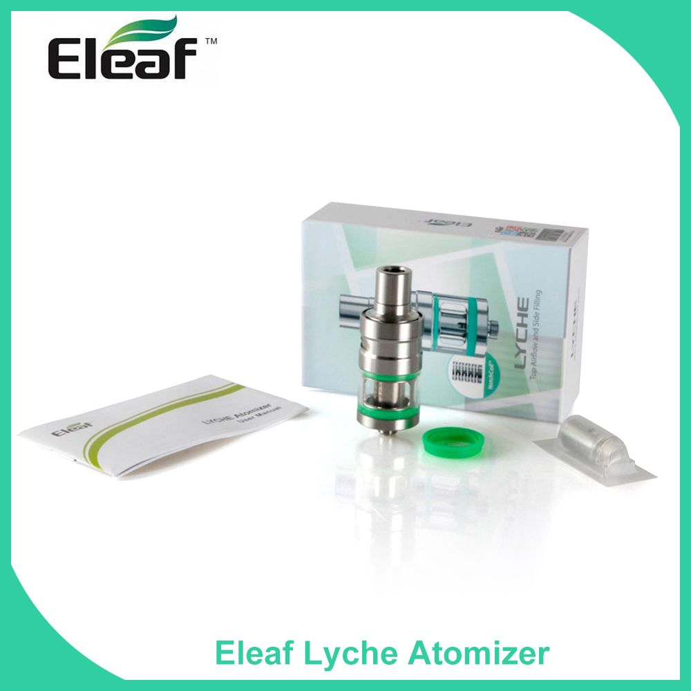 Big sale!!! Original 100% Eleaf Lyche Atomizer 4ml Capacity Stainless Steel 510 thread 2 colors available Cigarro Eletronico