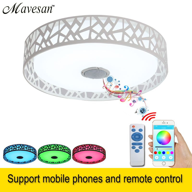 2018 LED ceiling Lights lamp Music for bedroom bluetooth & Remote control kids lighting ceiling with speaker plafoniera led