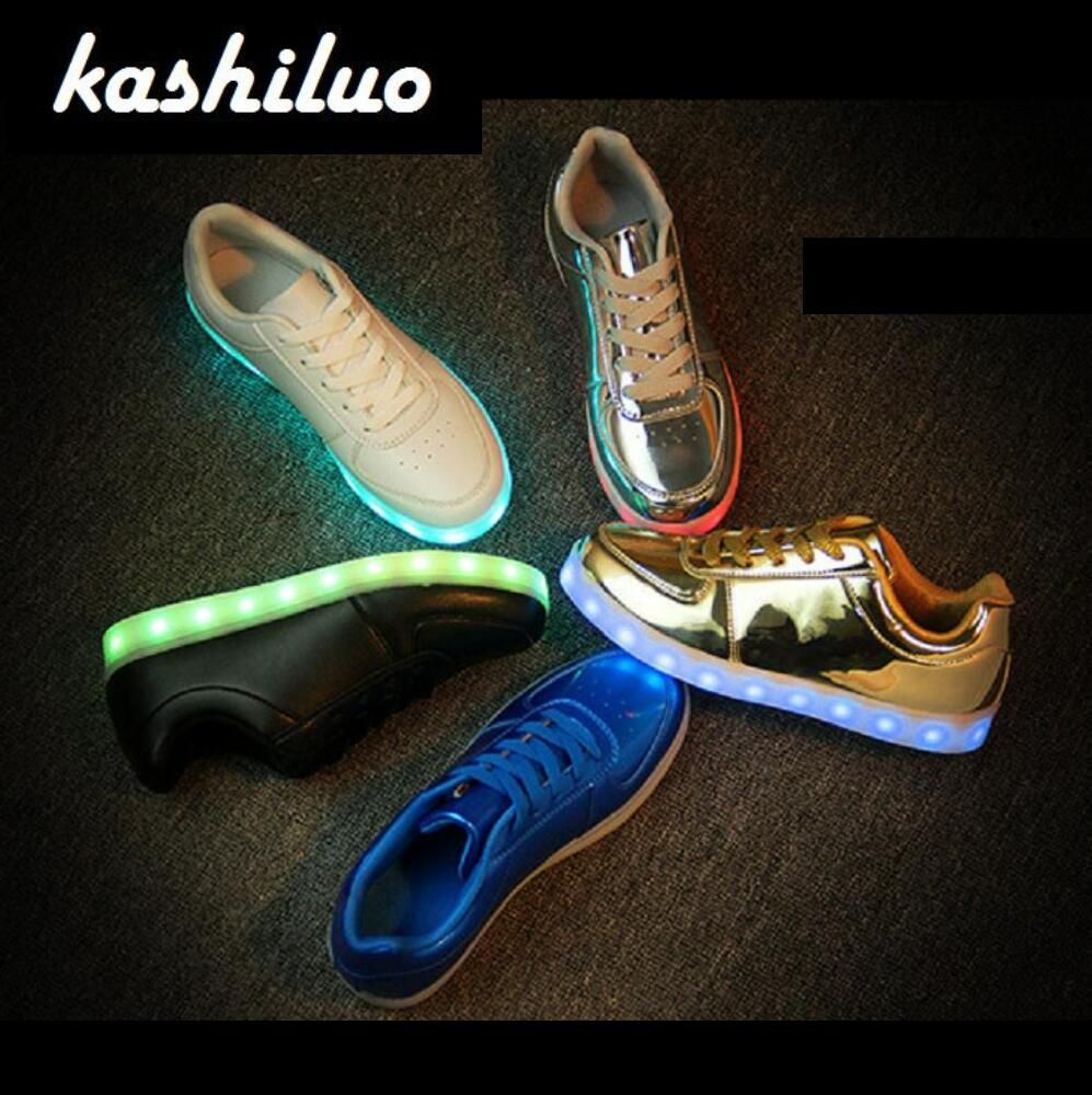 EUR 31-46 <font><b>Luminous</b></font> Sneakers USB Charge Led Children Shoes Boy Girl Men Women Glowing Tennis Kids Light up Shoes