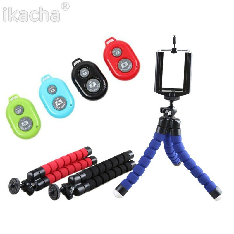 Appareil Photo numérique Mini Trépied Flexible Stand Manfrotto + Téléphone Clip avec 1/4 Vis pour Iphone 6 5 4 4S Tous Les Téléphones mobiles