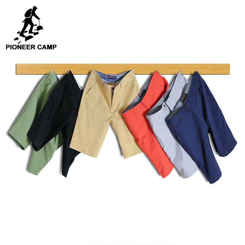 Пионерский лагерь повседневные мужские шорты брендовая одежда летние дышащие шорты для мужчин наивысшего качества стрейч прямые шорты муж...