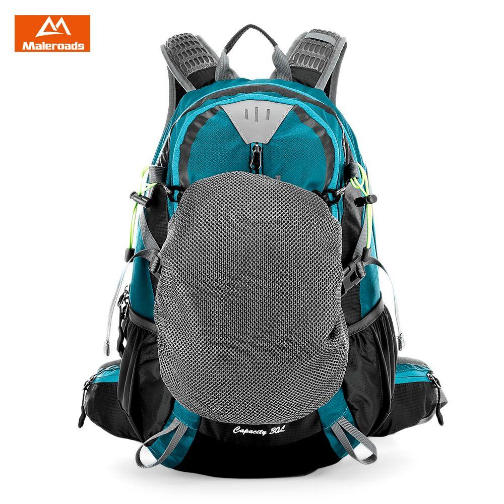 Maleroads 30L Water Resistant Outdoor Bag Hiking Camping Bags Backpack Bags Sports Nylon Travel Luggage Bike Rucksack Bag