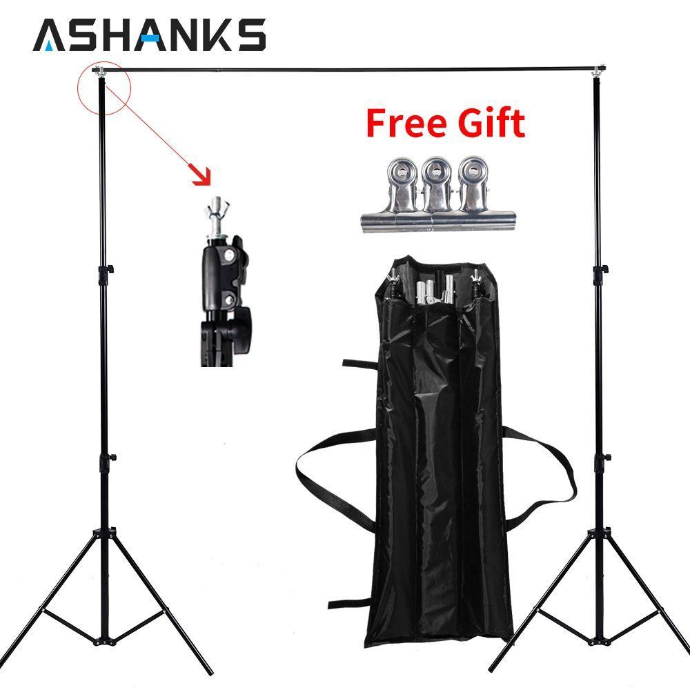 Ashanks Background Stand Adjustable Backdrop Support for Video Studio Photographic Accessories 6.5Ft Muslin Tripod Frame