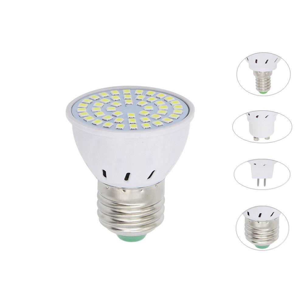 4W 6W 8W E27 E14 GU10 MR16 AC 220V LED Lamp Spotlight 48LED 60LED 80LED 2835 SMD bulb Chandelier Replace Halogen Lights Lighting