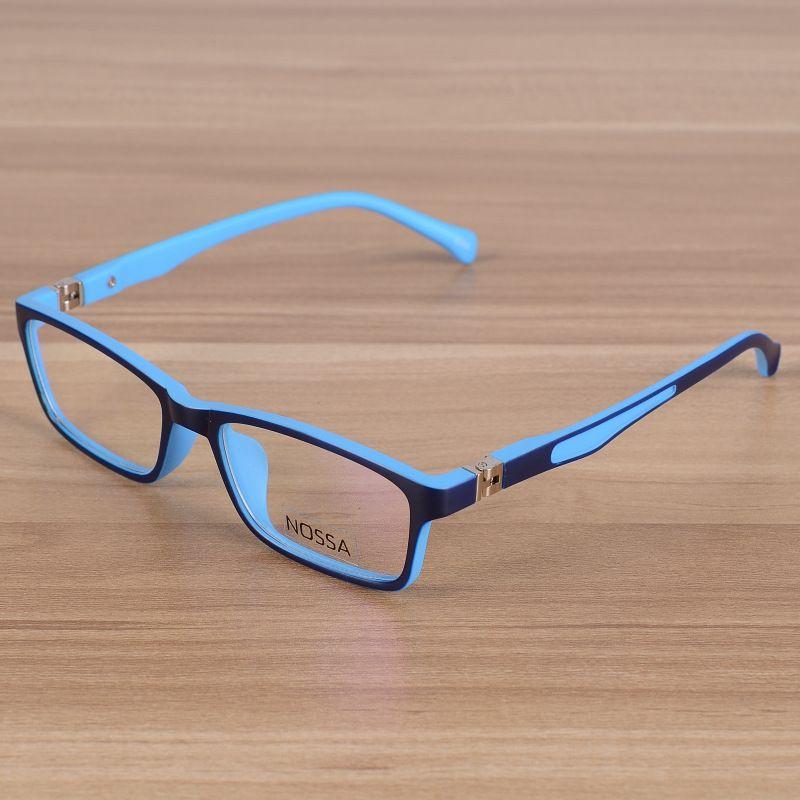 Enfants lunettes enfants incassable TR90 lunettes cadre optique Prescription montures de lunettes filles garçons bleu Patchwork lunettes
