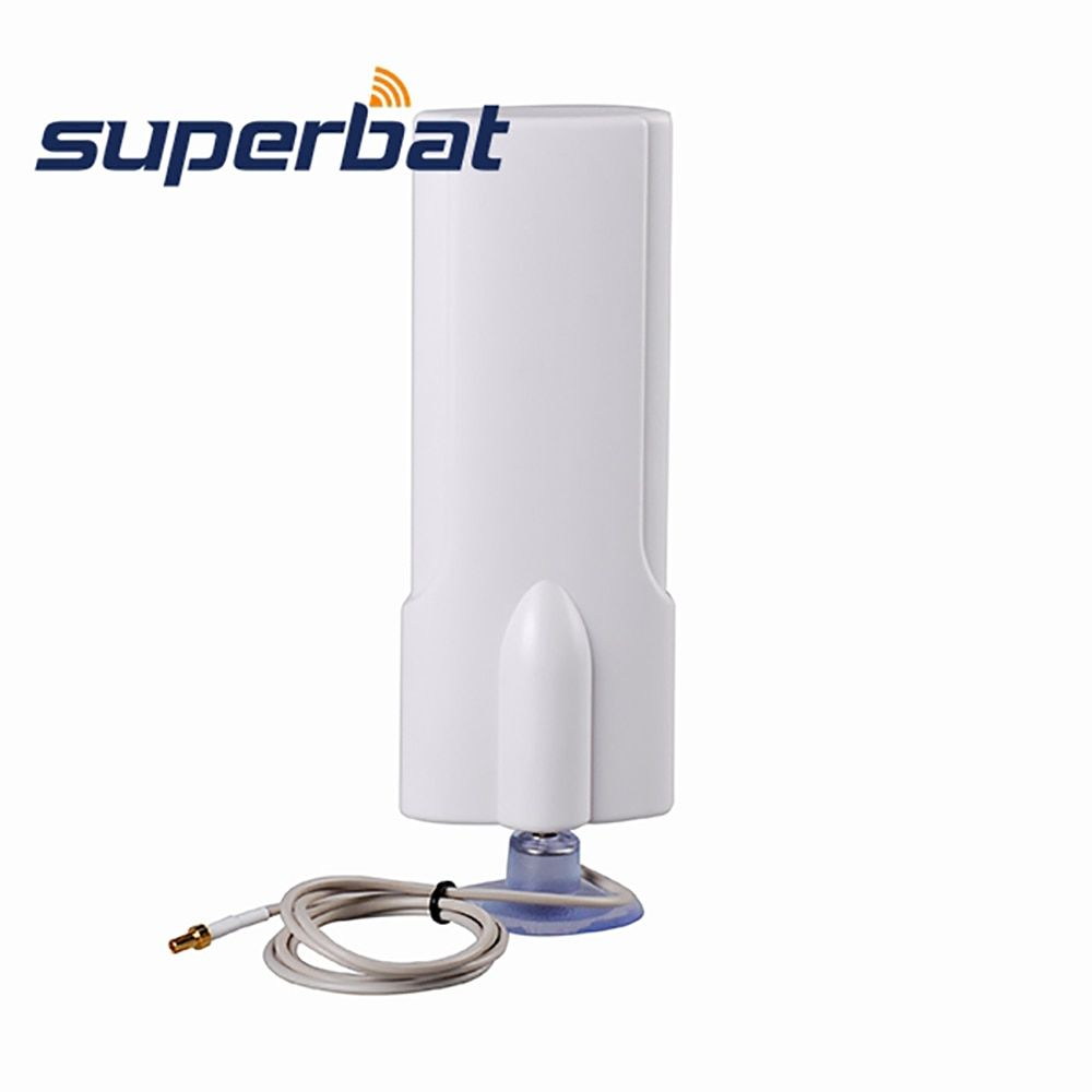 Superbat High Gain 3G Aerial 30dbi 1880-1920/1990-2170MHz TS9 Antenna for HUAWEI USB Modem Signal Booster with Sucker 207*70*30