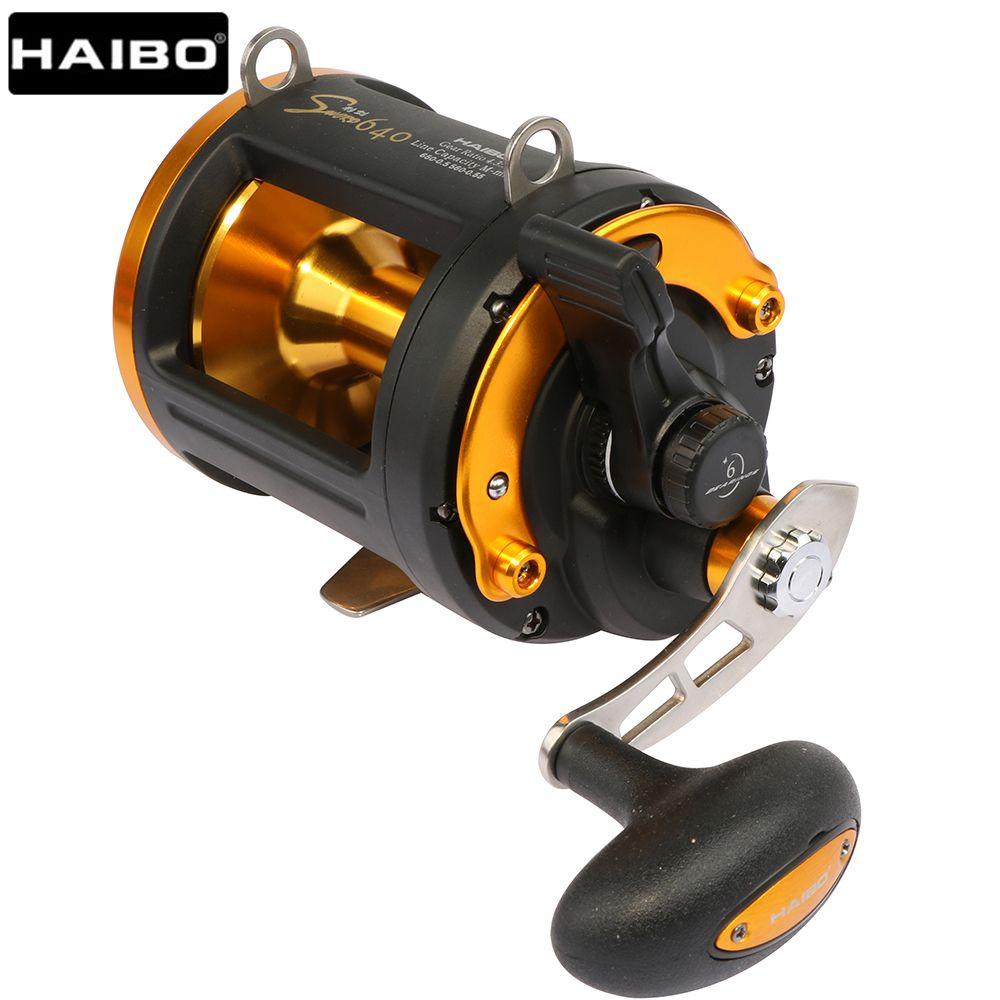 Haibo Sword 640 Long Casting Boat Baitcasting Fishing Reel Carbon Drag Sea Big Game Drum Trolling/Jigging reel 6BB 4.3:1