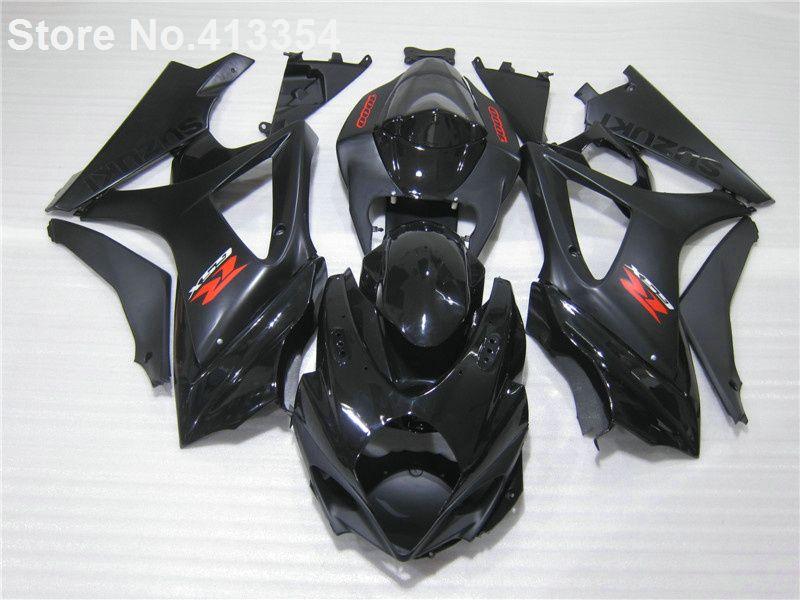 Aftermarket body parts fairings for Suzuki GSXR 1000 07 08 glossy black fairing kit GSXR1000 2007 2008 RY22